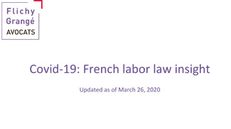 Covid-19: French labor law insight